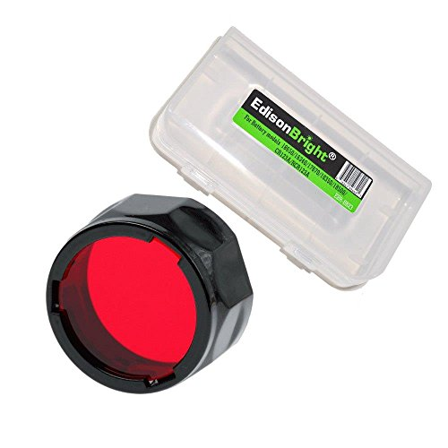 EdisonBright Fenix Filter Adapter, Red AOF-S-RED Battery Case for PD35, PD12, UC35