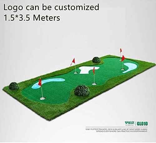 ゴルフマット - ゴルフパッティンググリーン芝フロア練習用ゴム人工ゴルフマット、トレーニングドライビング打撃ゴルフ人工芝