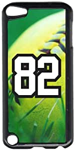 Softball Sports Fan Player Number 82 Black Plastic Decorative iPod iTouch 5th Generation Case