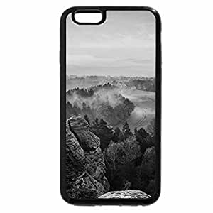 iPhone 6S Case, iPhone 6 Case (Black & White) - morning mist over a beautiful valley