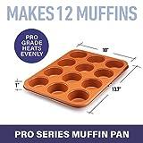 Gotham Steel 12 Cup Muffin Pan, Cupcake Pan