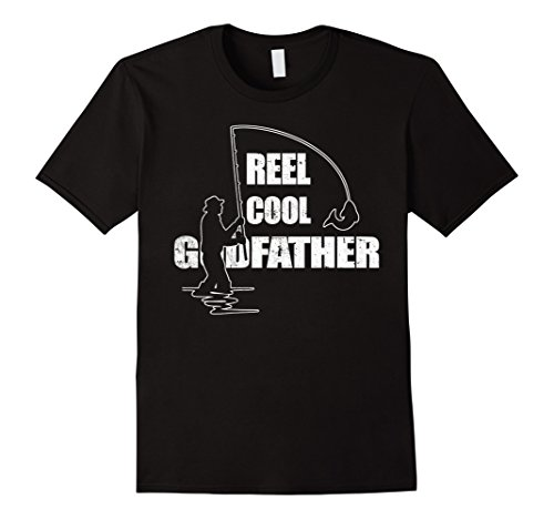 Mens Reel Cool Godfather Shirts, Great gift for father's day Large Black