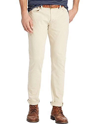 Polo Ralph Lauren Men's Varick Slim Straight Jeans Size 36W x 32L Light Khaki