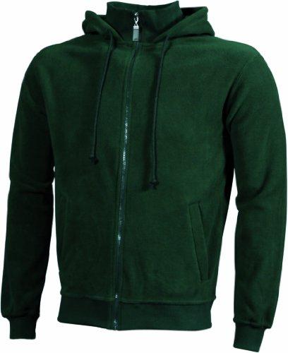 Cappuccio Dark In Con green Hooded Microfleece Trendy Jacket Fleece Giacca wOqnpHIH