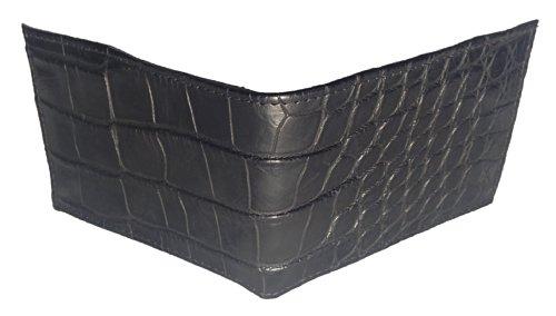 One Black Wallet Alligator Semi Genuine Safari Sultan Men's Bifold Size Gloss wqzf5nZR