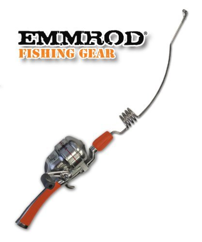 Emmrod Packer Fishing Combo 4 Coil Casting Pole w/ Shakespeare Reel (ORANGE HANDLE)