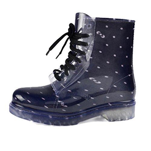 SGoodshoes Damen Regen Stiefel Wasserdichte Regenschuhe Gummistiefel