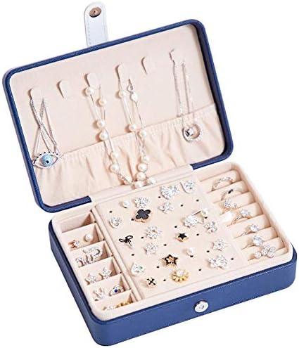 [해외]Ragem 보석 상자 쥬얼리 수납 보석 함 보석 가방 캐디 액세서리 케이스 휴대가 편리한 귀걸이 목걸이 반지 반지 수납 선물 17 × 12 × 5cm / Ragem Jewelry Box Jewelry Storage Jewelry Case Accessory Case Accessory Case Carrying Convenience ...