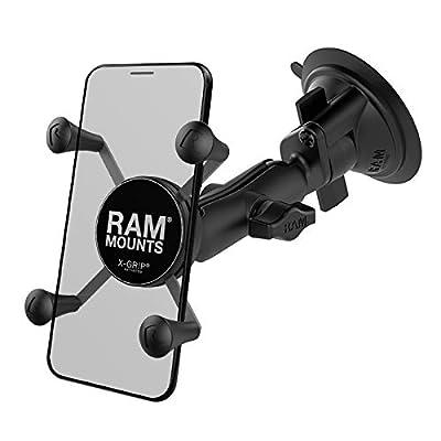 Ram Mount Twist Lock Suction Cup Mount with Universal X-Grip Cell Phone Holder, Black, RAM-B-166-UN7U: Car Electronics