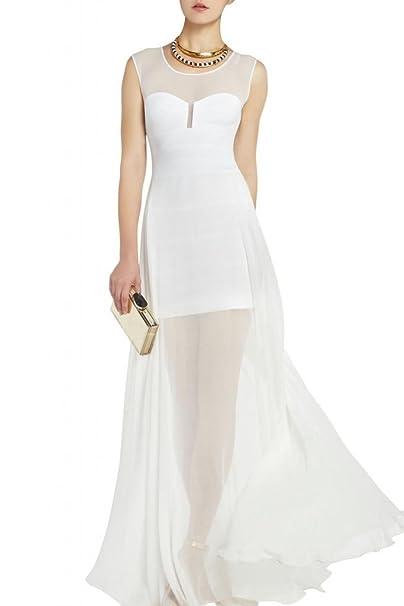 Vestidos de boda de Toscana novia atractiva vestidos largos de Gasa de la princesa beige 2