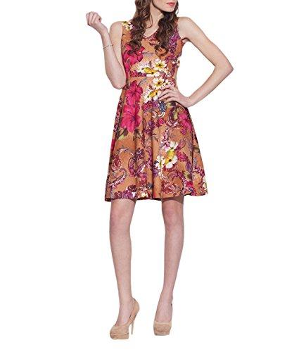 Vêtements Coton Imprimé Dress, lavable en machine, W-CPD46-1616, Taille-46 pouces