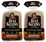 Aunt Millie's Best Grains Non-GMO Bread, 100% Whole Wheat, Two 24 oz. Loaves