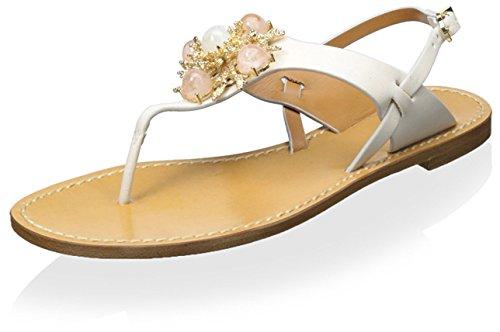 AERIN Women's Vaccaro Sandal Cream 4qJOoWT