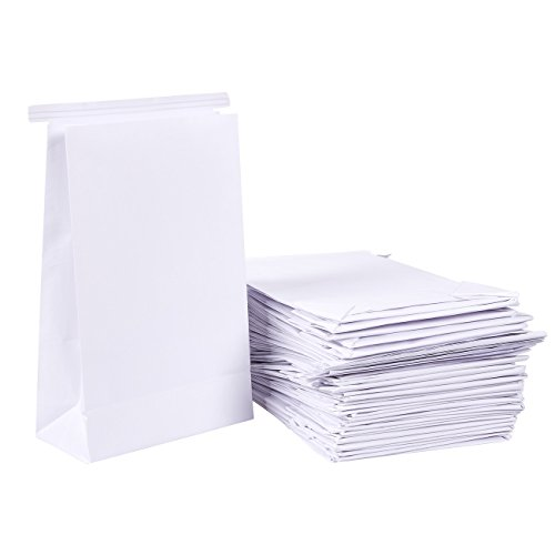 50 Pack Vomit Bags - White Throw Up Sick Bags for Motion Sickness, Morning Sickness, and Hangovers, Disposable Paper Puke Bag. 6 x 2.6 x 9.7 Inches