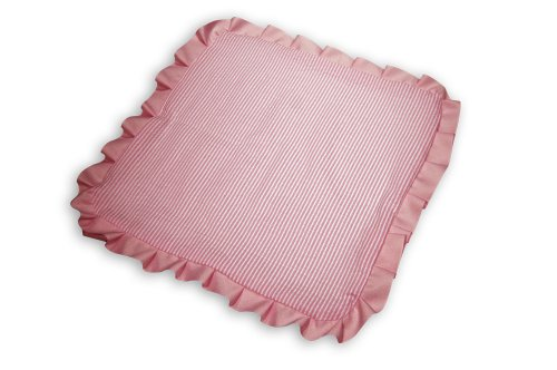 Caught Ya Lookin' Baby Thumb Blanket, Pink Seersucker (Seersucker Baby Bedding)