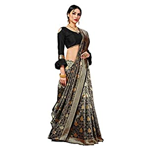 Pehnavaa Women's Banarasi Art Silk Saree With Unstitched Blouse Piece
