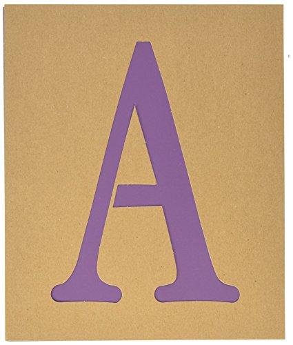 Folk Art Stencils (Plaid PLA50317 Stencil Folk-Art Paper Alphabet & Monogram Serif, 7