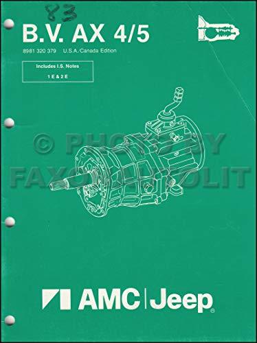 1984-1987 Jeep Manual Transmission Overhaul Original BV AX 4/5 Cherokee Wagoneer Comanche