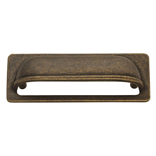 Cabinet Pull Cup Antique (Hickory Hardware PA1023-WOA Oxford Antique Cup Cabinet Pull, 3-Inch, Windover Antique)