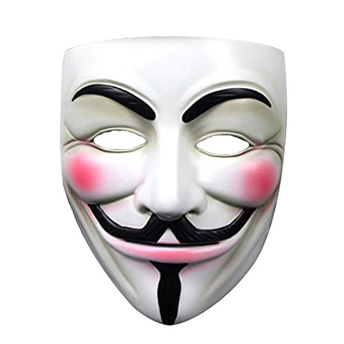 Lantusi Anonymous Hacker Mask, V for Vendetta Halloween Masquerade Costume Cosplay