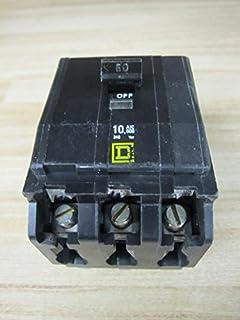 SQUARE D QO360 CIRCUIT BREAKER 60 AMP PUSH IN CIRCUIT BREAKER 240 VAC 3 POLE