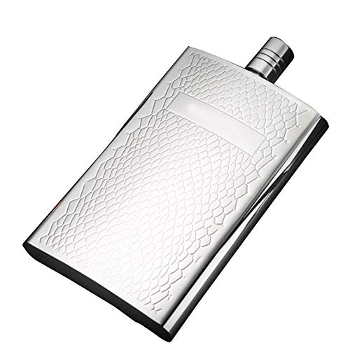 stainless steel hip flask for Men, Hip Flask, 304 Food Grade Stainless Steel Curved Pocket Flask for Liquor | 5.5OZ Capacity | Gift Boxed