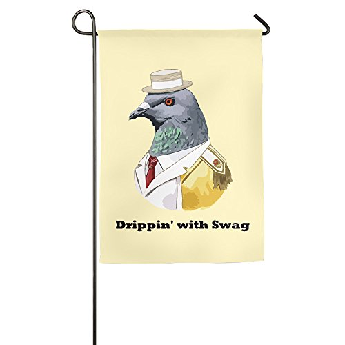 cartoon-pigeon-drippin-with-swag-polyester-home-garden-flag-1827inch