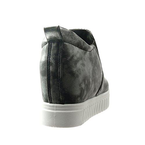 cm Plateforme Angkorly Plateforme Femme Baskets Compensé Chaussure Perforée Talon Mode 6 AnfxrvA