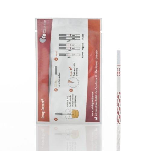 Drogentest Cannabis (Mariuhana / Haschisch / THC) -Schnelltest Drug-Detect - 10 Teststreifen (Cut-off: 50 ng/ml)