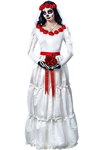 Day of the Dead Bride Adult Costume - Large