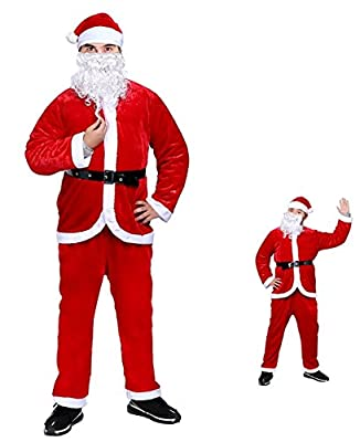 Christmas Santa Costume Santa Claus Suit Holiday Santa Cosplay Costumes for Men