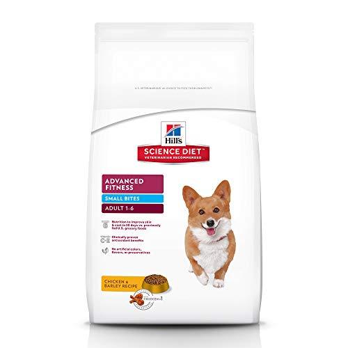 HillS Science Diet Adult Advanced Fitness Dog Food, Small Bites Chicken & Barley Recipe Dry Dog Food, 5 Lb Bag