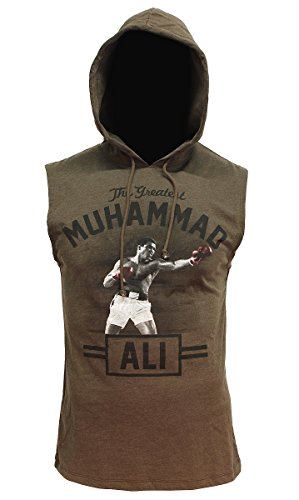 Muhammad Ali Graphic Sleeveless Pullover Hoodie - - Ali Store A