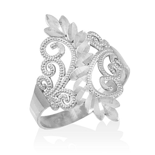 10k White Gold Filigree - 1