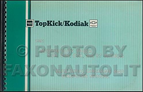 1991 gmc chevy topkick kodiak s7 wiring diagram manual original rh amazon com