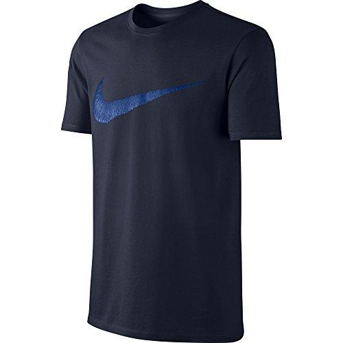 NIKE Men's Sportswear Hangtag Swoosh Tee, Dark Obsidian/Varsity Royal, X-Large (Mens Swoosh T-shirt)