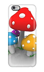 StarFisher Case Cover Protector Specially Made For Iphone 6 Plus Colored Mushrooms