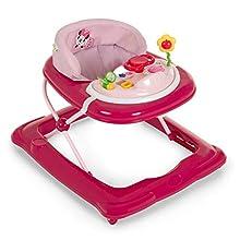 Hauck Player - Andador a partir de 6 meses hasta 12 kg, andador con música, mesa de juego multifuncional con ruedas, asiento acolchado y desmontable, regulable en altura, Minnie (fucsia)