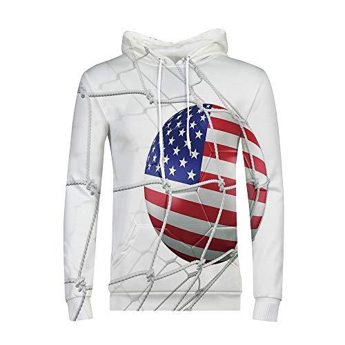 Athletic-Fit Hoodie Mens Novelty Color Block Hoodies Cozy Sport Outwear