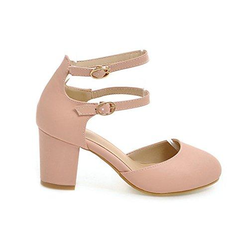 Shoes Ankle Work Pu Round Size Jerald Black Women Toe 43 Ol Pink Strap Square Pumps Big 34 Shoes Logan qt5f0wzB