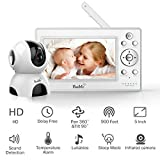 Bable Baby Monitor with Camera, 5 Inch 720P Video Baby Monitor with Infrared Night Vision Camera, Remote Control/Pan 360˚ & Tilt 90˚/ Temperature Monitor/Two-Way Talk/Sound Alarm/Up to 900 feet