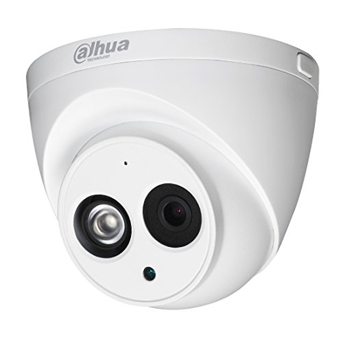 Dahua 4MP PoE IP Security Camera IPC-HDW4433C-A 3.6mm Lens,4 Megapixels Super HD 2688×1520 Outdoor Surveillance Camera Dome with Built-in Mic for Audio,50m IR Night Vision,H.265,IP67 Waterproof,ONVIF