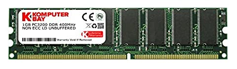 KOMPUTERBAY 1GB DDR DIMM (184 PIN) 400Mhz PC3200 DDR400 DESKTOP MEMORY [Personal Computers]
