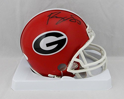 Roquan Smith Autographed Georgia Bulldogs Mini Helmet- JSA W Auth Black ()