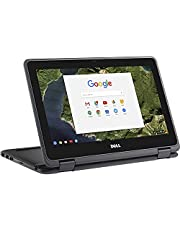 """2021 Dell 11.6"""" Convertible 2-in-1 Touchscreen Chromebook, Intel Celeron Processor Up to 2.48GHz, 4GB Ram 16GB SSD, HDMI, Chrome OS, SDTK 16GB USB Drive(Renewed)"""