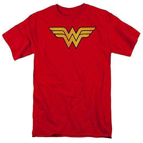 Wonder Woman Logo Adult T-Shirt, Large (Wonder Woman T Shirt Plus Size)