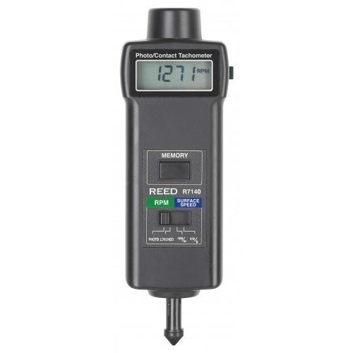 Laser Photo Tachometer REED Instruments R7100 Combination Contact