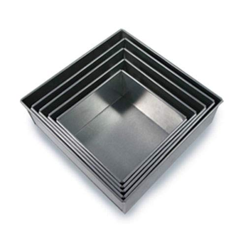 Set of 5 Tier Square Multilayer Birthday/Wedding Anniversary Cake Tins/Cake Pans/Cake Moulds 6.7.8.9.10 - all 3'' Deep