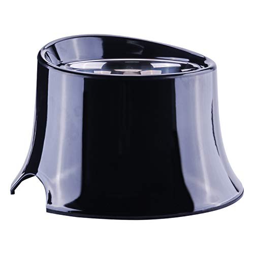 Super Design Elevated Dog Bowl Raised Dog Feeder for Food and Water 1 Cup Black ()