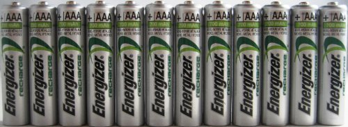 12 x New Energizer AAA Rechargeable NiMH Battery 800 mAh ()
